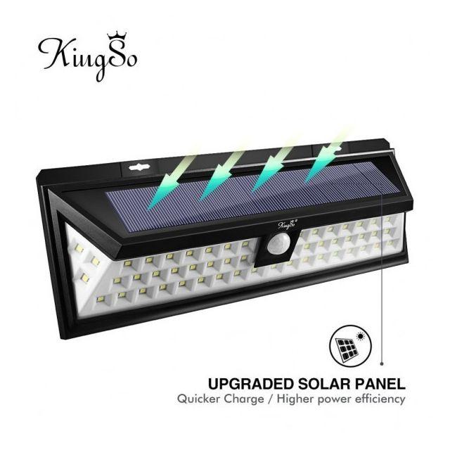 alpexe lampe solaire ext rieur 54 leds d tecteur de. Black Bedroom Furniture Sets. Home Design Ideas