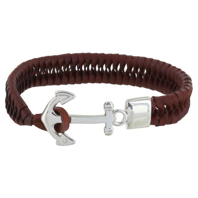bracelet cuir homme 19cm