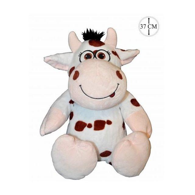 Sans Marque - Peluche Vache Jambe Molle 37cm