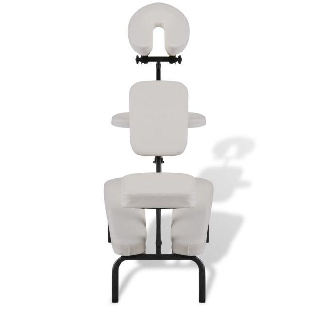 Icaverne - Fauteuils de massage reference Chaise de Massage Pliante et Portable Blanc