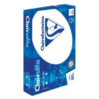 Clairefontaine - Ramette papier Clairalfa A4 80 gr - 500 feuilles - blanc