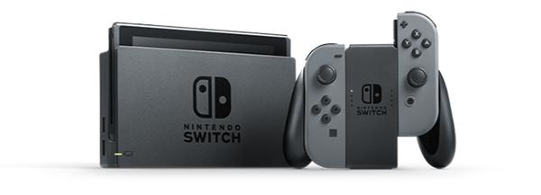 NINTENDO - Console Switch avec une paire de Joy-Con Gris