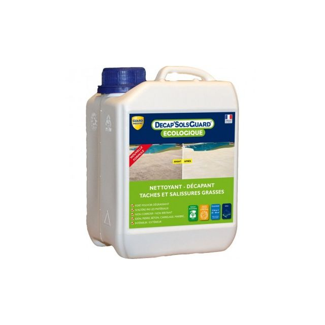 Guard Industrie - Décapant nettoyant pour sols, dalles, terrasses - Décap'Sols Guard® Ecologique 2L