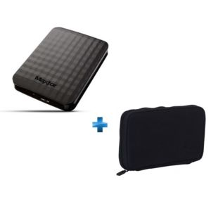 maxtor disque dur externe 1 to usb 3 0 noir housse noire. Black Bedroom Furniture Sets. Home Design Ideas