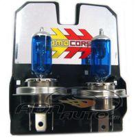 MomoCorse - 2 Ampoules H4 - Ice White - 12V 55W 4000K - Rendu 110W - Homologue