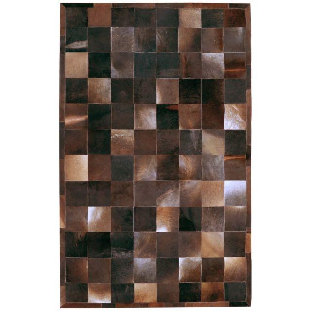 COMFORIUM - Tapis patchwork rectangulaire en peau de vache ...