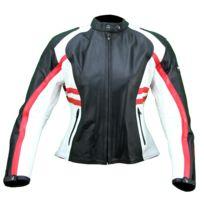 5d8f2aea5c Karno-motorsport - Kc016 Blouson moto Femme cuir rouge blanc noir Karno -  protections amovibles