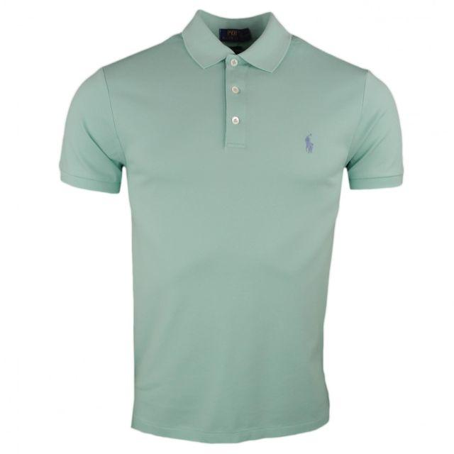 Ralph Lauren - Polo piqué vert pastel slim fit pour homme - pas cher Achat    Vente Polo homme - RueDuCommerce 4aecbb487e9