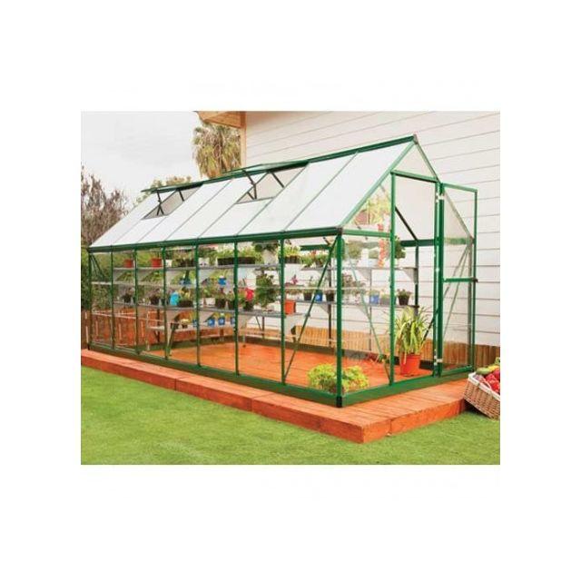 Palram serre de jardin en polycarbonate hybrid 7 88 m couleur argent ancrage au sol oui - Serre de jardin carrefour ...