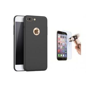 film verre trempe coque silicone gel noir tpu pour iphone 8 plus pas cher achat vente. Black Bedroom Furniture Sets. Home Design Ideas