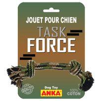 Compagnie Des Pet Foods - Anka - Jouet Corde 2 Nœuds Task Force pour Chien - 26cm
