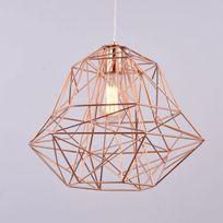 Kosilum - Lampe Cuivre industrielle suspension - Spin