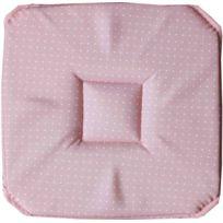 La Maison D'AMELIE - Galette de chaise 4 rabats 36x36 Finesse rose