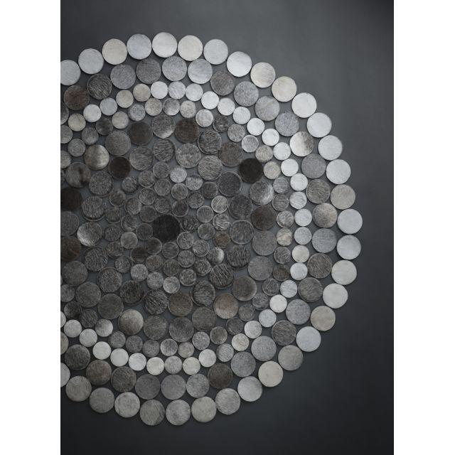 UN AMOUR DE TAPIS Tapis ELIPSE Tapis Naturel par Unamourdetapis gris 150 x 150 cm