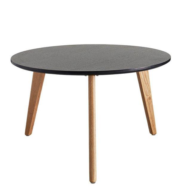 Inside 75 Table basse design scandinave Nordic taille L coloris chêne wengé