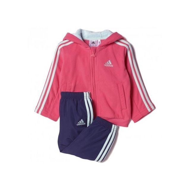 c41b0f66af1c4 Adidas originals - Survêtement Polaire Rose Bébé Fille Adidas - pas cher  Achat   Vente Survêtement homme - RueDuCommerce