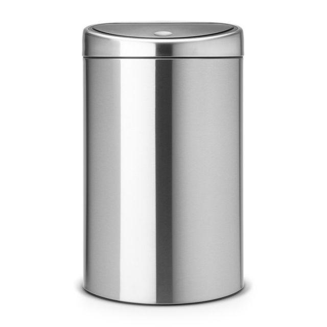 Brabantia Poubelle Touch Bin®, 40 litres - Matt Steel Fingerprint Proof