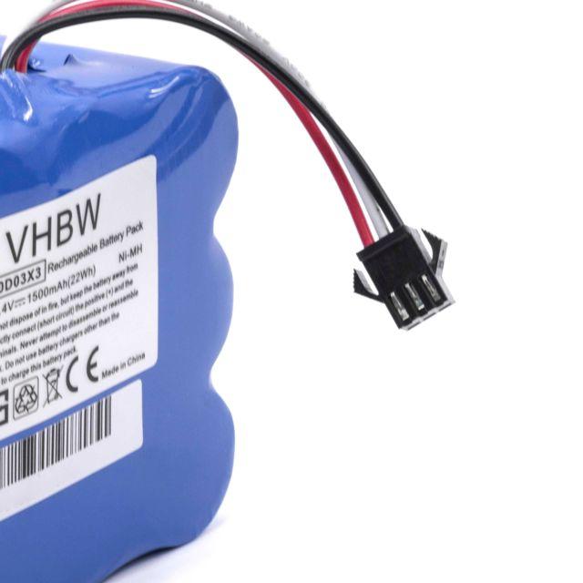 Vhbw NiMH batterie 1500mAh 14.4V, pour robot aspirateur