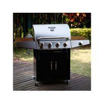 Habitat et Jardin - Barbecue gaz Party 5 - 5 Brûleurs dont 1 latéral - 15.2 kW