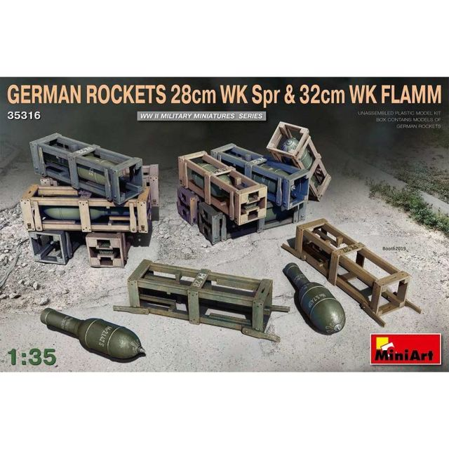 Mini Art Maquette Lance Missile German Rockets 28cm Wk Spr & 32cm Wk Flamm
