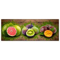 Declina - Tableau panoramique déco cuisine fruits sur toile imprimée