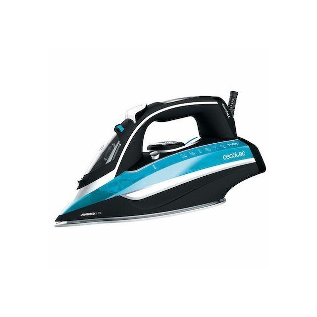 Totalcadeau Fer à vapeur 3D avec protection anti calcaire 400 ml 3100W Noir Bleu - Fer à repasser haut performance