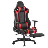 super populaire 7d35f 7eb65 Chaise de Bureau-Chaise de Jeu-Chaise Gaming-Siège Gamer Réglable Pour  Maison Bureau Jeu Rouge