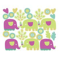 MARQUE GENERIQUE - Stickers chambre bébé Les petits éléphants