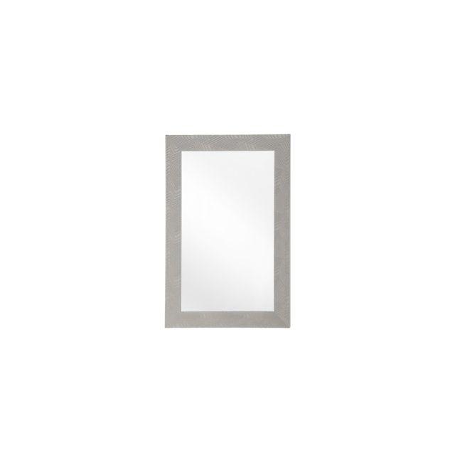 BELIANI Miroir gris 60 x 91 cm NEVEZ - gris
