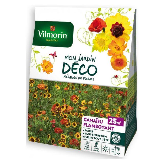 Vilmorin Sachet graines Mélange de fleurs Camaïeu Flamboyant 25m2