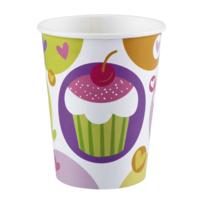 Amsc - 8 Gobelets Carton Cupcake