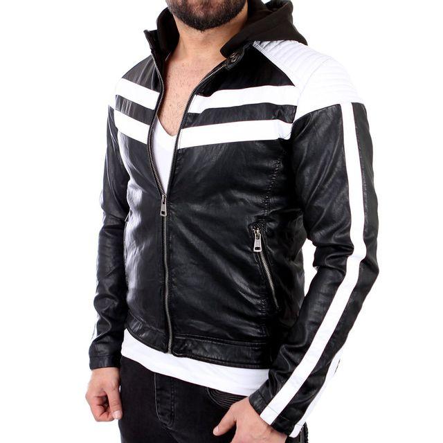 8f42bd6ad8e32 FREESIDE - Veste cuir fashion homme Veste homme 545 noir - pas cher ...