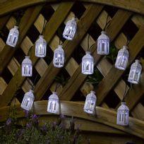 Smartsolar - Guirlande lanterne Marocaine led blanche x 16