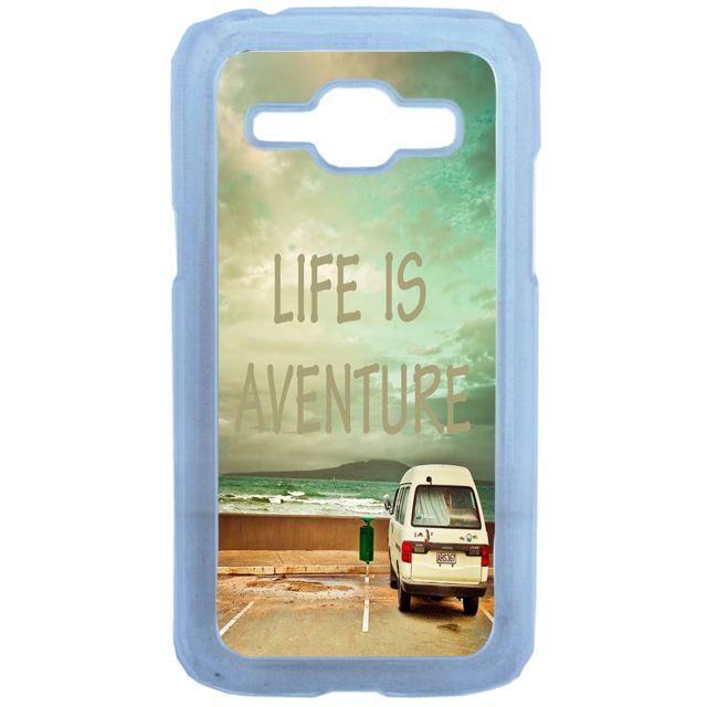 Lapinette - Coque Rigide Life Is Aventure Pour Samsung Galaxy J1