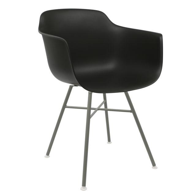 Chaise Privee Chaise Avon Rx Accoudoirs Noir - Gris A