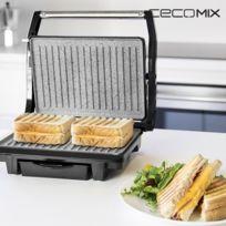 - Grill avec revêtement en pierre antiadhésif 1000W - machine pour Sandwish panini croque monsieur