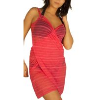 Collection Vip - Robe pareo framboise