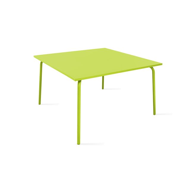 oviala table de jardin carr e en m tal pas cher achat vente ensembles tables et chaises. Black Bedroom Furniture Sets. Home Design Ideas