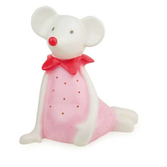 Egmont Toys - Twiggy - Lampe à poser / Veilleuse Led Souris Blanc/Rose pâle H28cm Multicolore