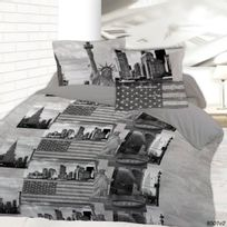 Dourev - Housse de couette 220 x 240 New York sightseeing + 2 taies