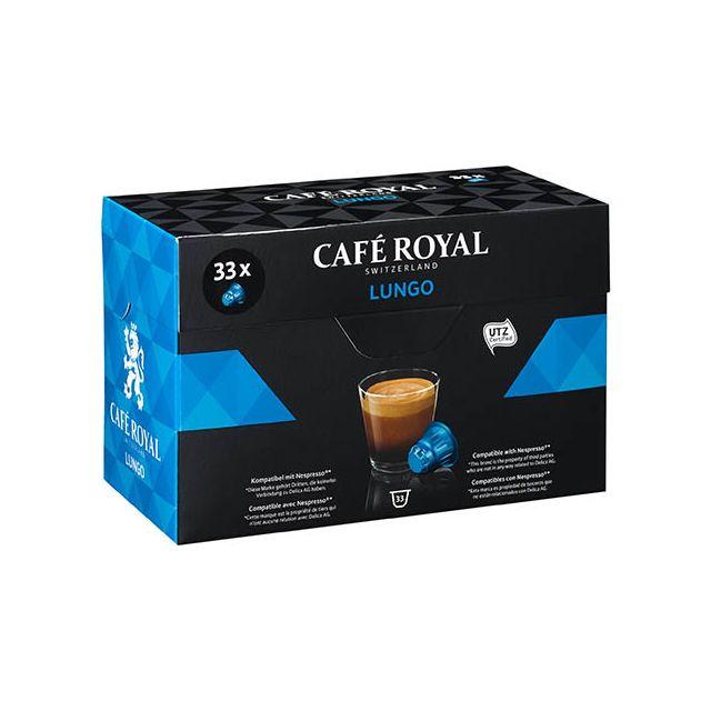 CafÉ Royal Capsules de café Lungo - Boîte de 33