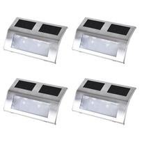 Rocambolesk   Superbe Lot De 4 Lampes Solaires Pour Escalier Neuf