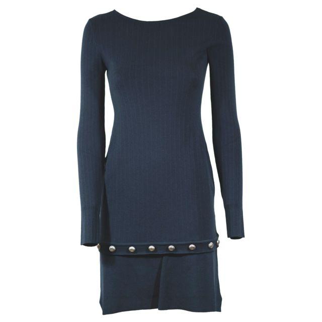 PINKO Femme 1G13GPY3M1GA3 Bleu Viscose Robe