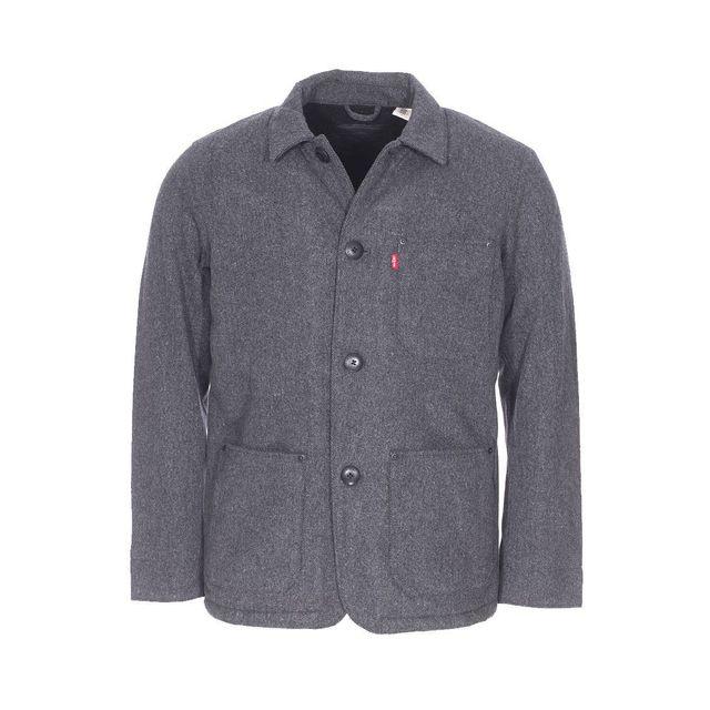 Levi S - Veste Wool Engineer s coat en laine mélangée anthracite GRIS - pas  cher Achat   Vente Blouson homme - RueDuCommerce de4cbb30fd12