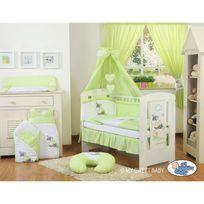 Autre - Lit et parure de lit bébé âne vert ciel de lit coton 140 70