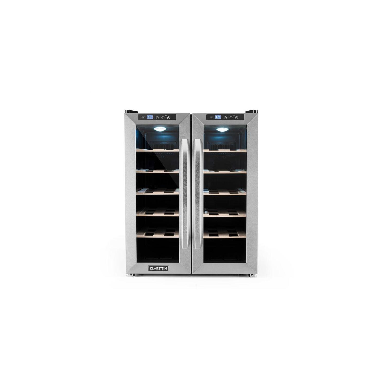 7a41c31dbdf61 KLARSTEIN- SaloonNapa Cave à vin 67L 2 portes vitrées 11-18°C -