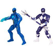 POWER RANGERS - Pack de 2 figurines de légende 12 cm - Ranger Bleu