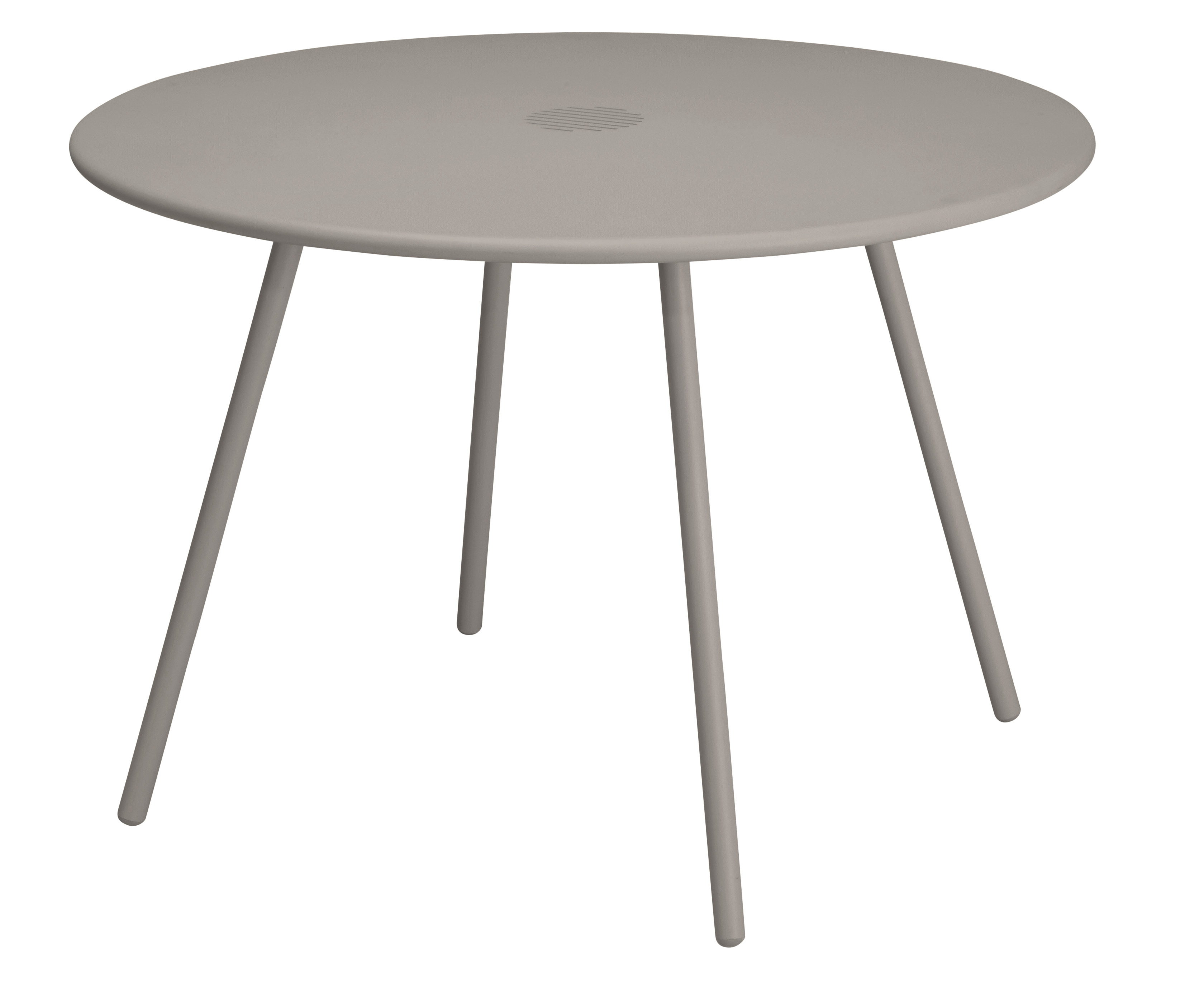 HYBA - Table ronde de jardin Alu 151 - Taupe - pas cher ...