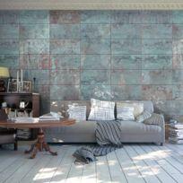 Bimago - Makossa-a1-WSR10m329 - Papier peint - Turquoise Concrete 50x1000