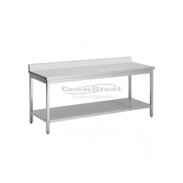 Combisteel Table Inox à Dosseret - Gamme 600 inox 800x600 600